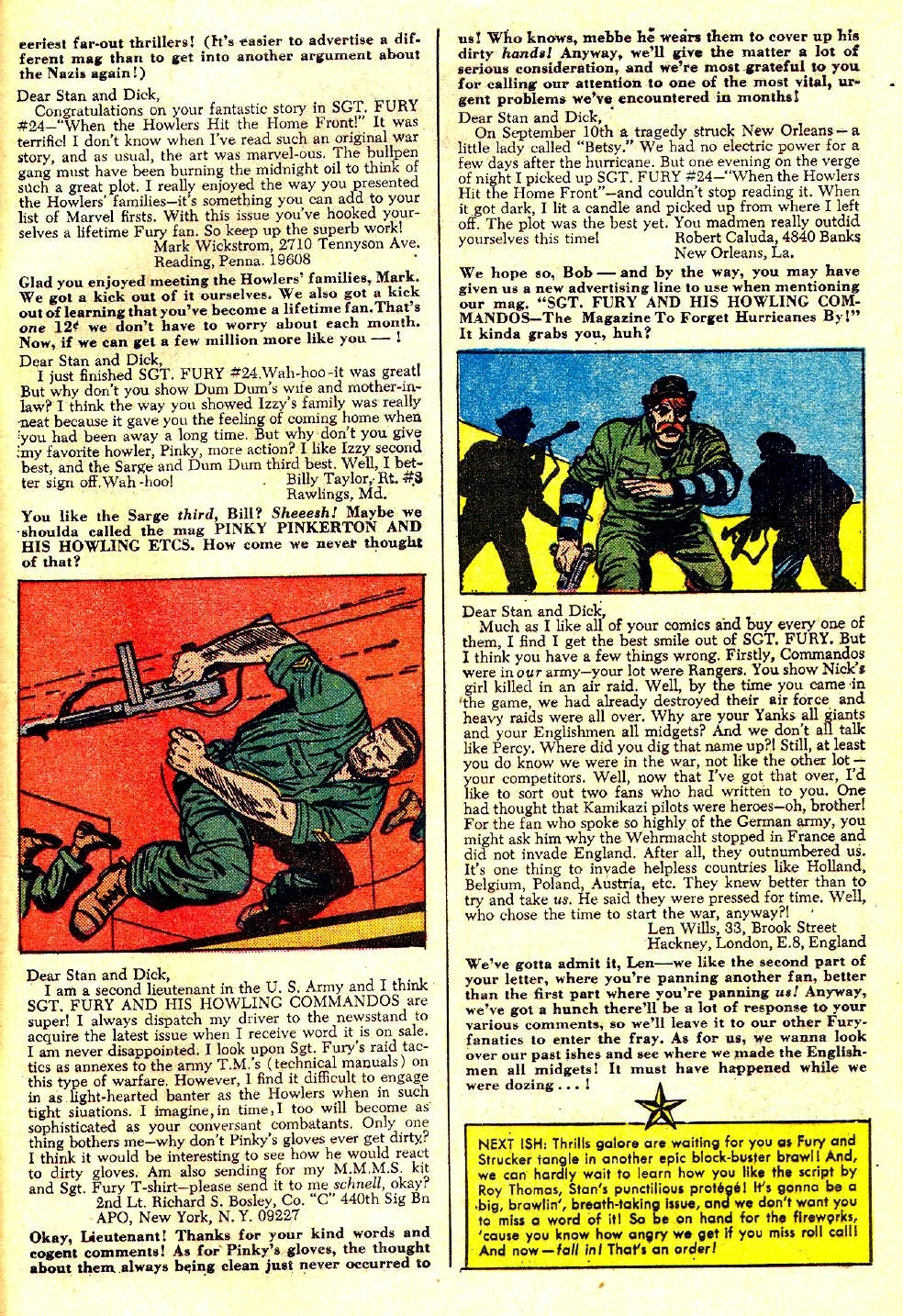 Read online Sgt. Fury comic -  Issue #28 - 33