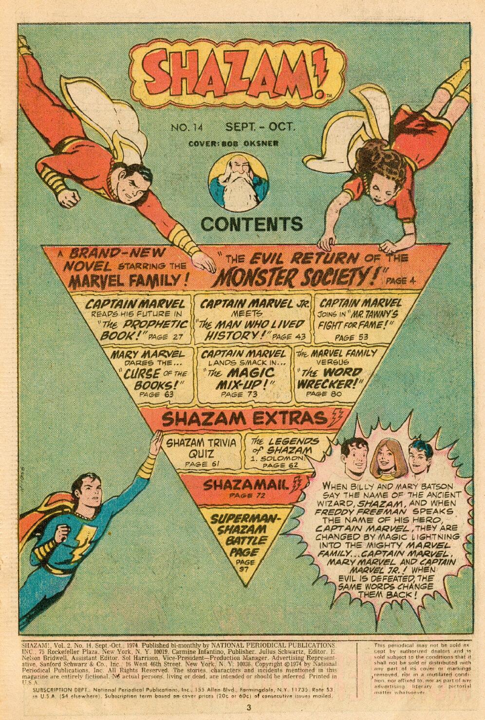 Read online Shazam! (1973) comic -  Issue #14 - 2