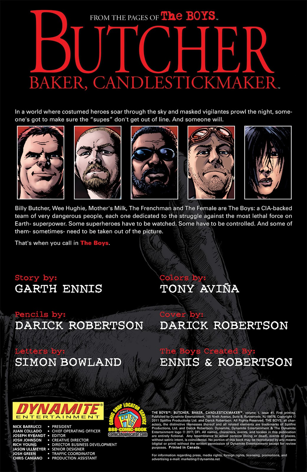 Read online The Boys: Butcher, Baker, Candlestickmaker comic -  Issue #1 - 2