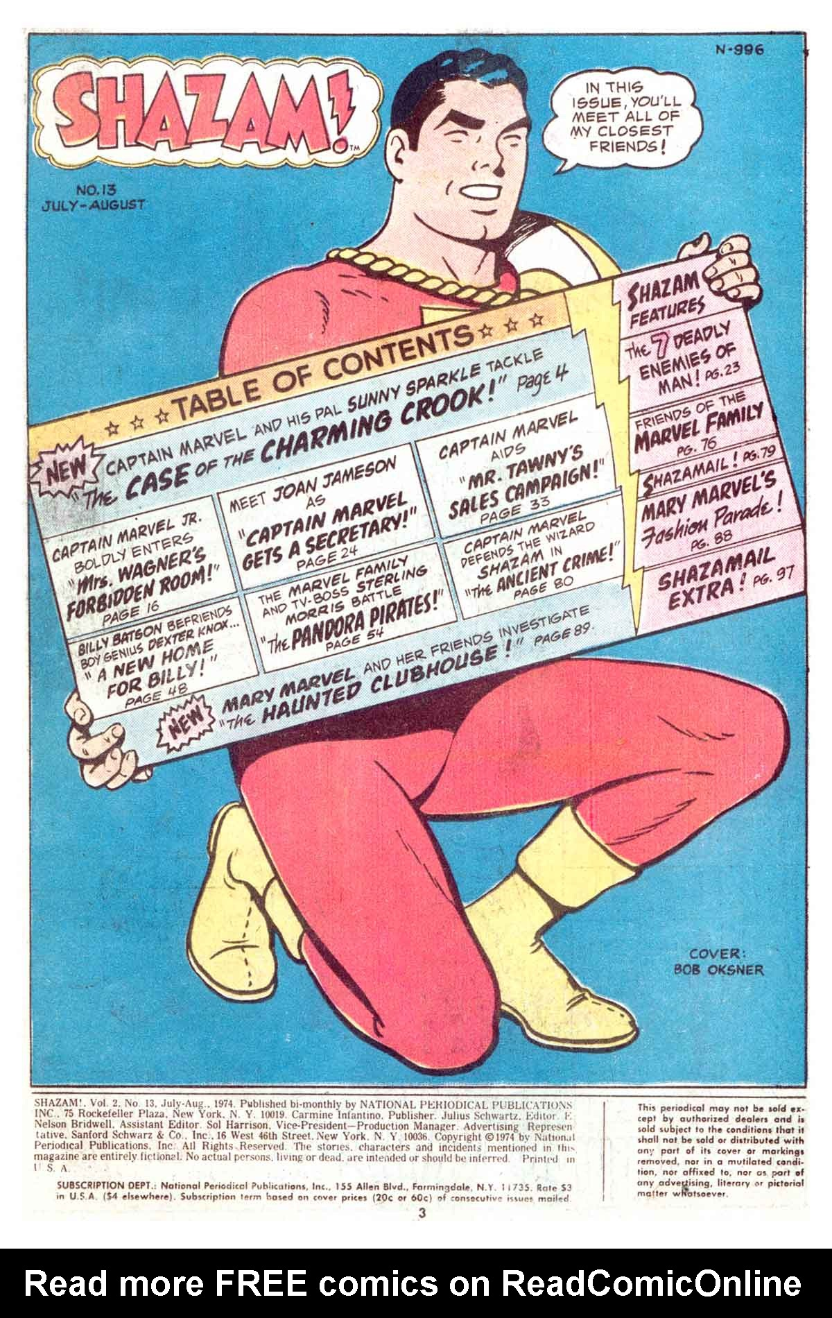 Read online Shazam! (1973) comic -  Issue #13 - 3