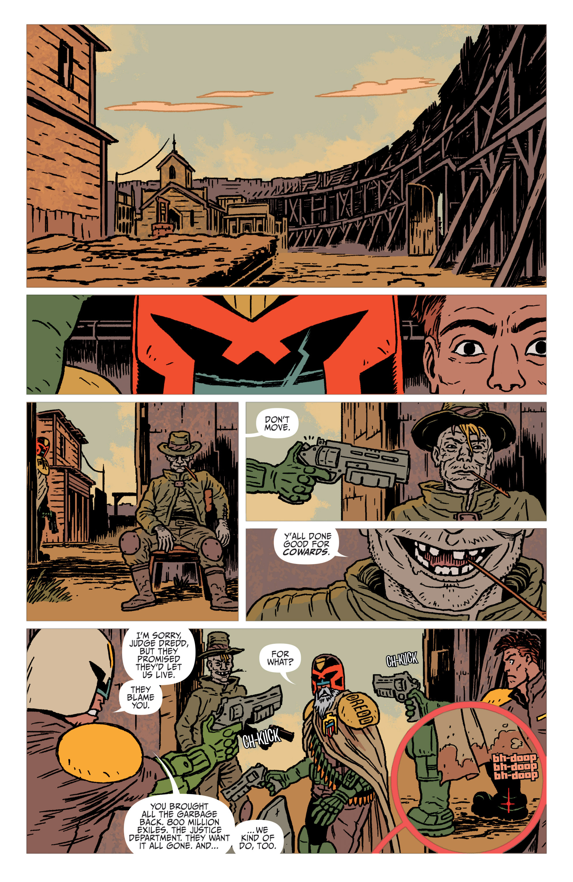 Read online Judge Dredd: The Blessed Earth comic -  Issue #1 - 12