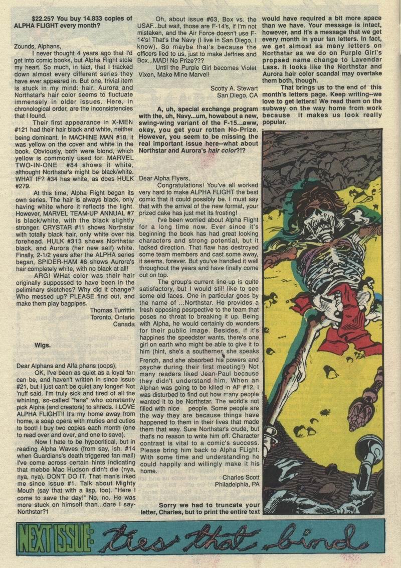 Read online Alpha Flight (1983) comic -  Issue #66 - 31