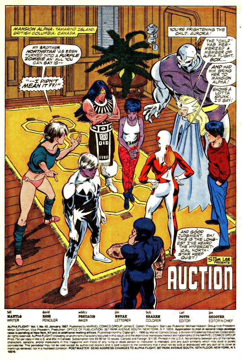 Read online Alpha Flight (1983) comic -  Issue #42 - 2