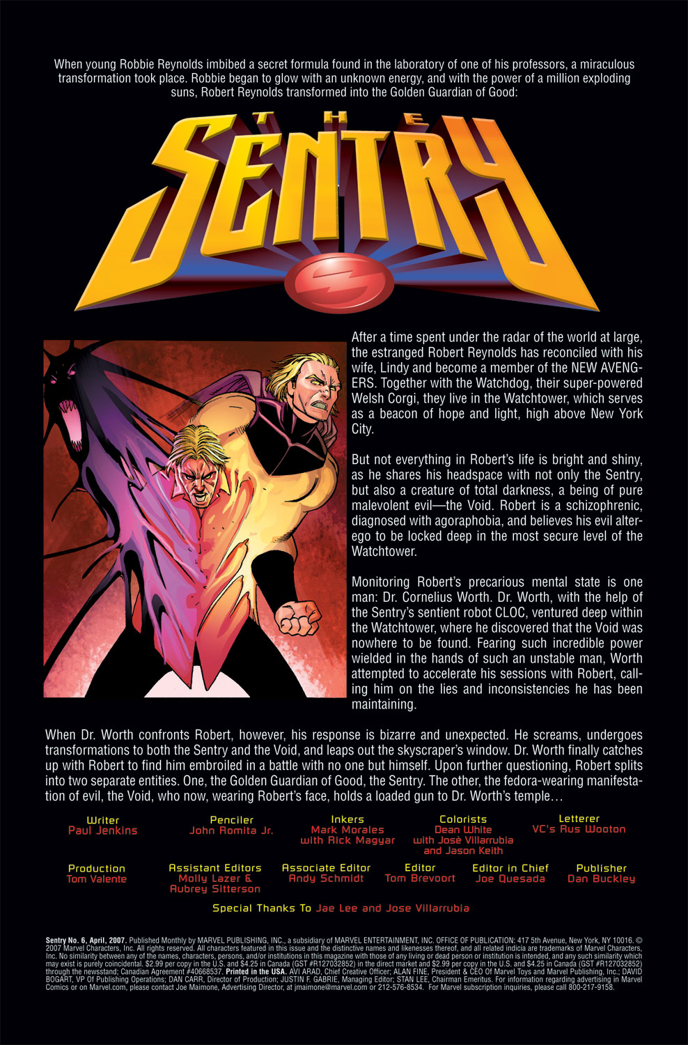 Read online Sentry (2006) comic -  Issue #6 - 2