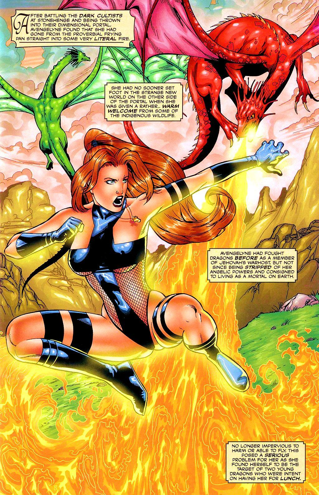 Read online Avengelyne: Dragon Realm comic -  Issue #1 - 4