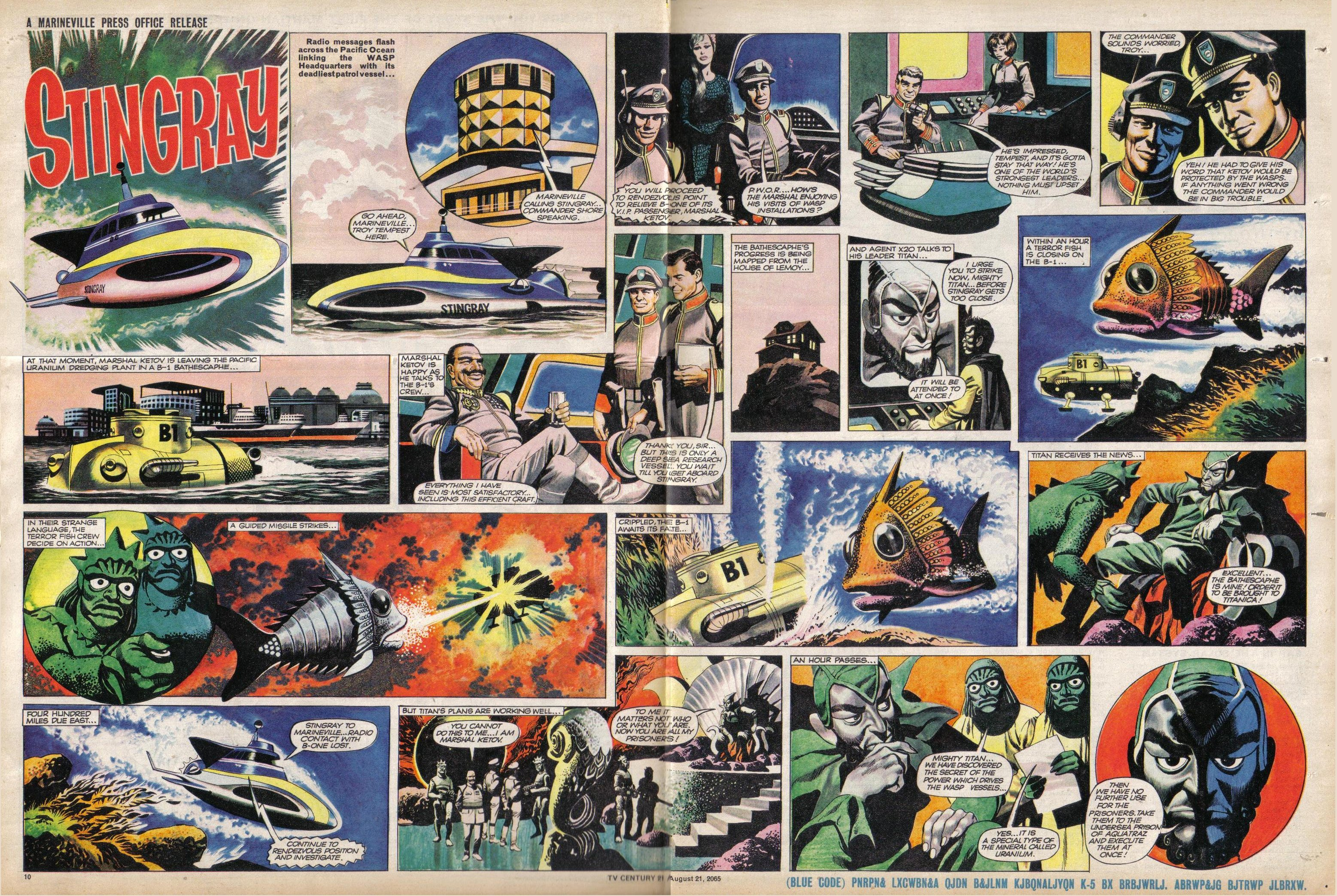 Read online TV Century 21 (TV 21) comic -  Issue #31 - 10