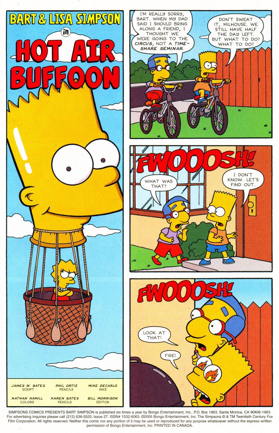 Read online Simpsons Comics Presents Bart Simpson comic -  Issue #27 - 2