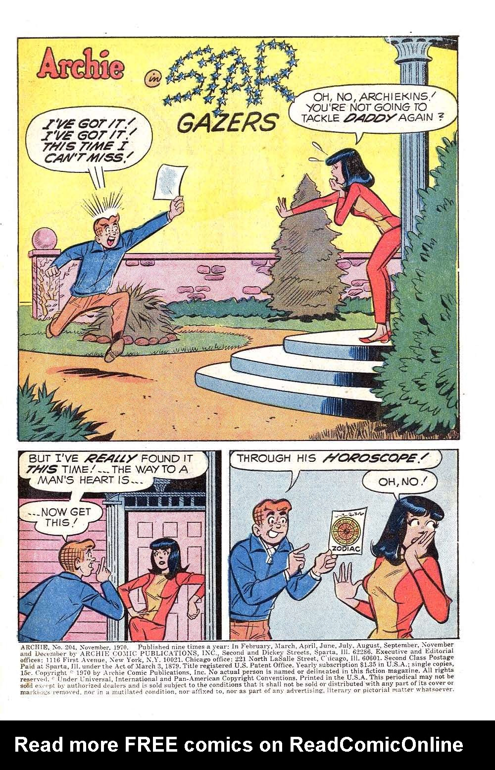 Read online Archie (1960) comic -  Issue #204 - 3